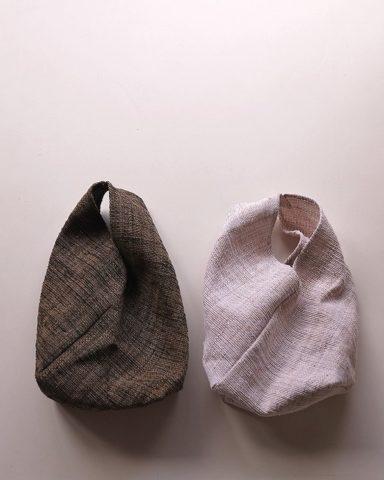 シナの裂き織ねじり袋